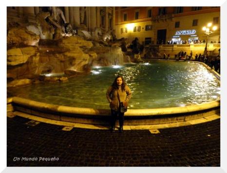 Yo en la Fontana di Trevi